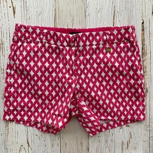 NAUTICA Pink & White Patterned Womens Shorts